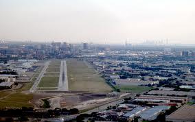 A familiar view of Addison Airport in Dallas.