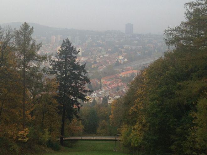 View of Brno from Wilson's Forest.