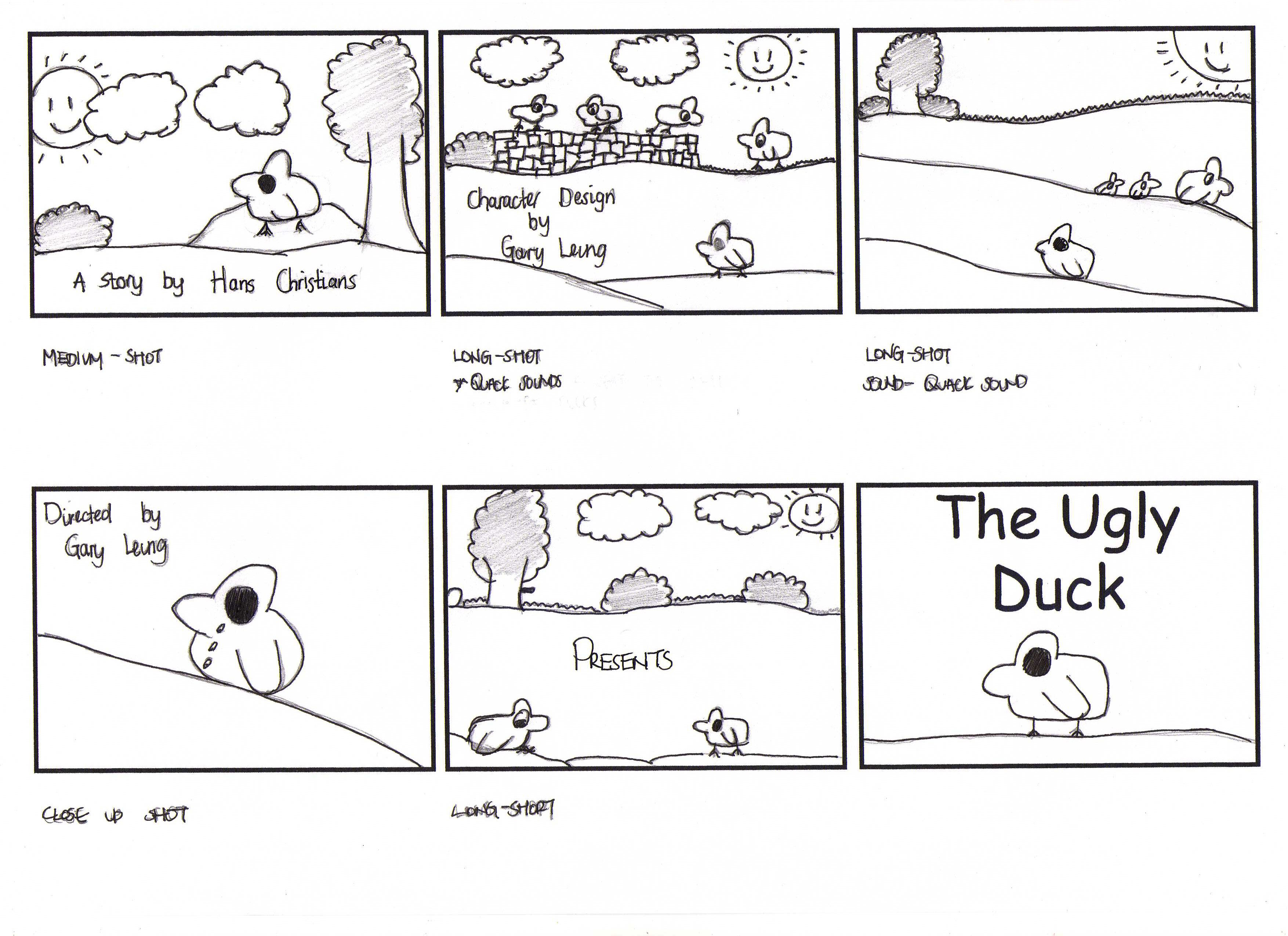 The Ugly Duck Storyboard