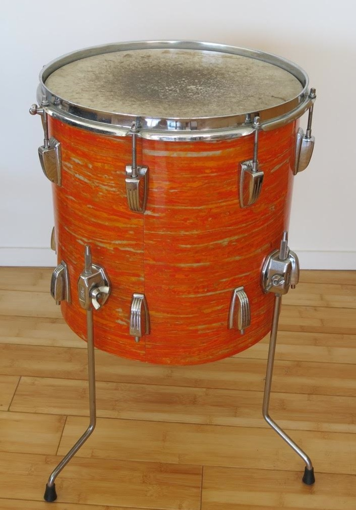 Mod Real Drum : Ludwig, Downbeat, Orange, Rocks., About, Collecting, Vintage, Memorabilia.