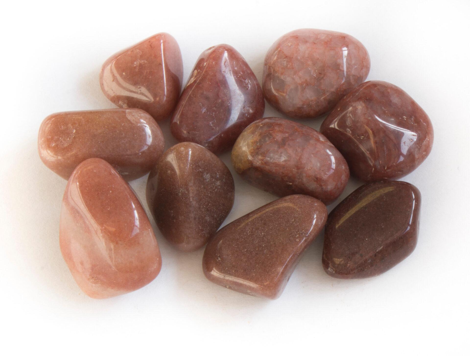 Red Quartz Tumbled Stones, 3/4″ — Brazil – Gary\'s Gem Garden