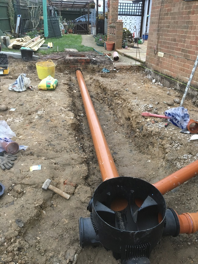 new mains drainage for job in hailsham