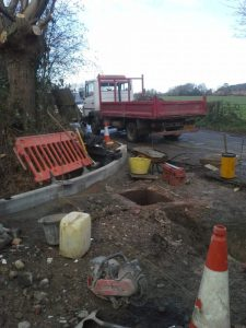 Heavy duty road entrance with new gully drainage system by Gary Simes in East Sussex