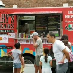 Gary's steaks food truck vending in Governor's Island labor day weekend
