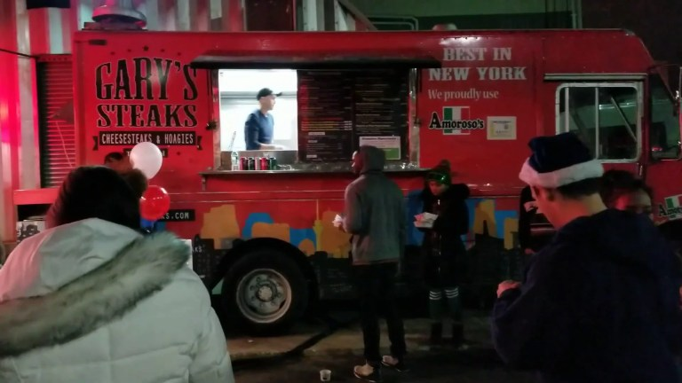 Garyssteaks Food truck catering at the Steiner Studios facility in Brooklyn NY