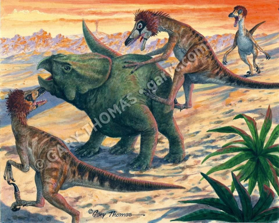 Deinonychus & Protoceratops
