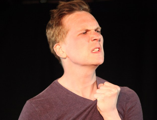 Actor Adam Donaldson preformed Hidden at Theatre N16 in May 2016