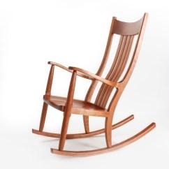 Handmade Rocking Chairs Hanging Chair Basket Award Winning The Weeks Rocker Cherry Carousel Front Side