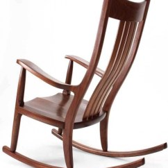 What Is A Rocking Chair Wooden Cushion Set Chairs Award Winning Handmade The Weeks Rocker Walnut Back Quarter View