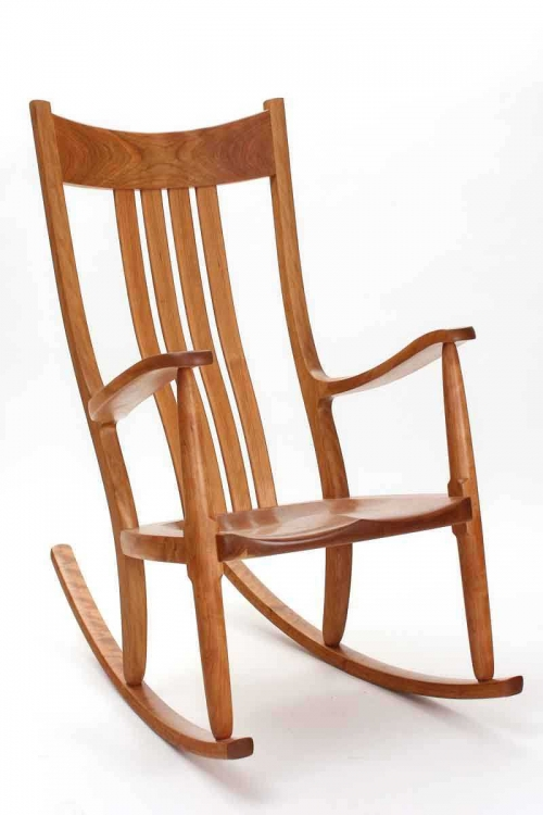 what is a rocking chair thick cushions chairs award winning handmade the weeks rocker cherry front quarter view