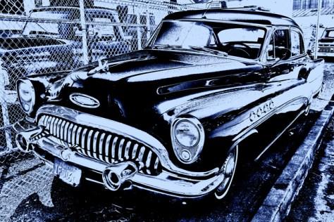 1953 Buick Roadmaster solarized