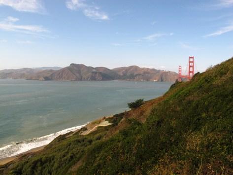 Golden Gate Bridge south side wide angle