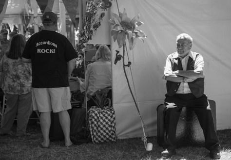 Cotati Accordion festival backstage scene