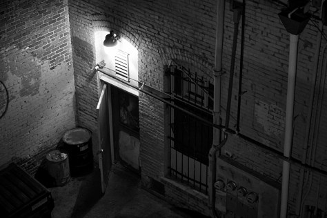 Alley on a hot night