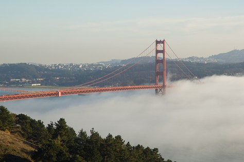 Winter smog over the Golden Gate