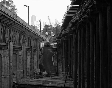 Presidio overpass construction view