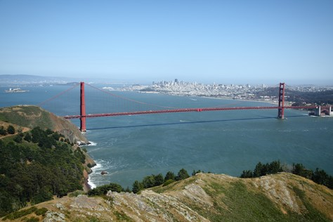 Golden Gate Bridge from the top of the Headlands