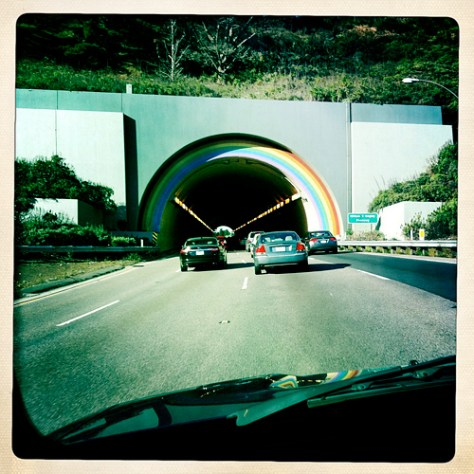Approaching the Waldo Tunnel