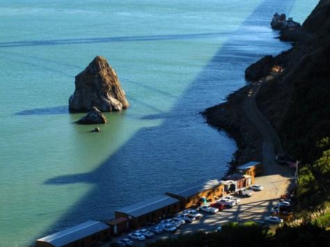 Golden Gate Bridge afternoon shadow