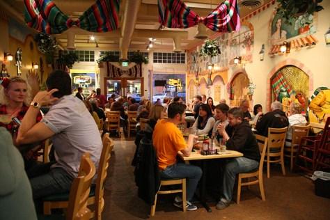 Mi Pueblo Mexican food restaurant interior