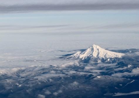 Mt Hood from 30000 feet