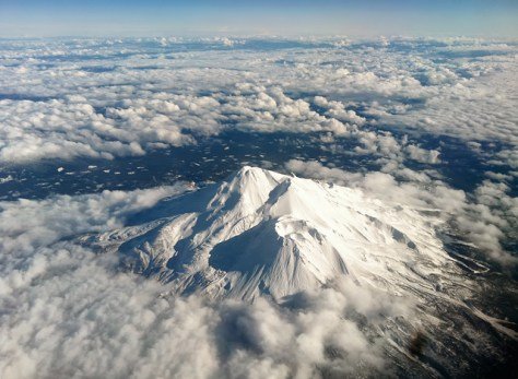 Mt Shasta from 30000 feet