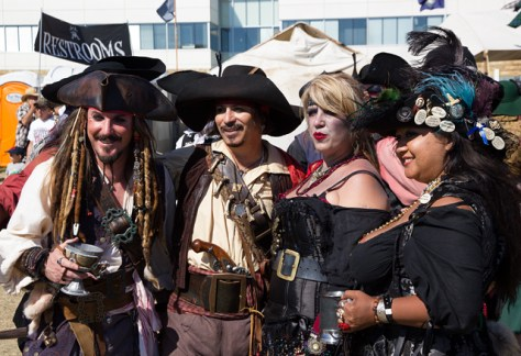 Group of well dressed pirates