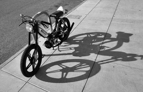 Puch moto an shadow