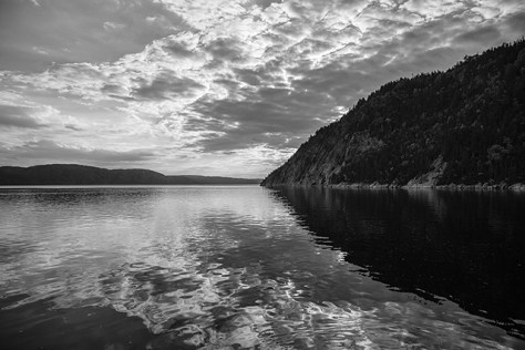 The view of the Saguenay Fjord from the pier at Sainte-Rose-du-Nord