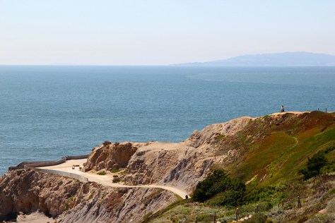 View north from above the Sutro Baths