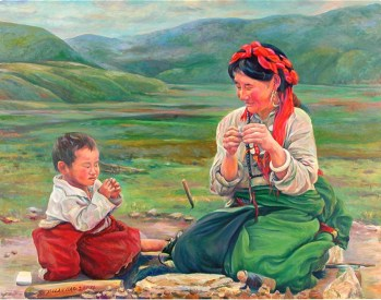 b_liao_dawa_with_his_mother_oil