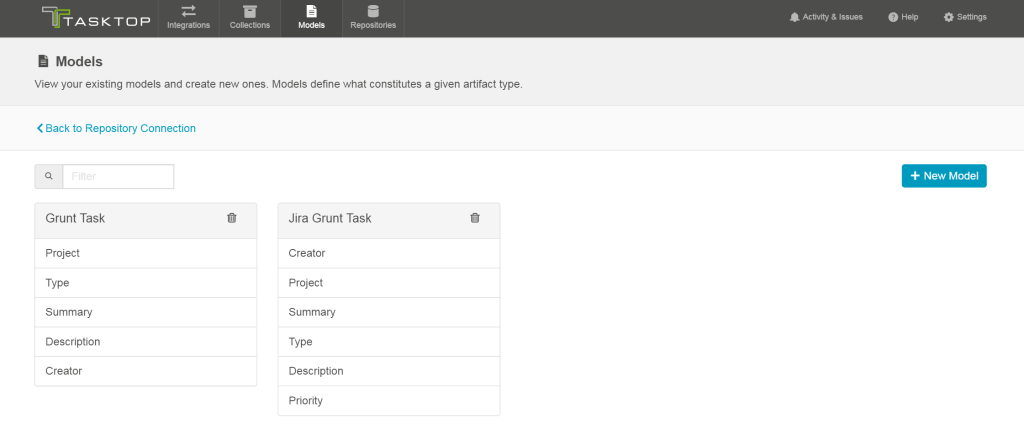 Tasktop Sync Gateway Model