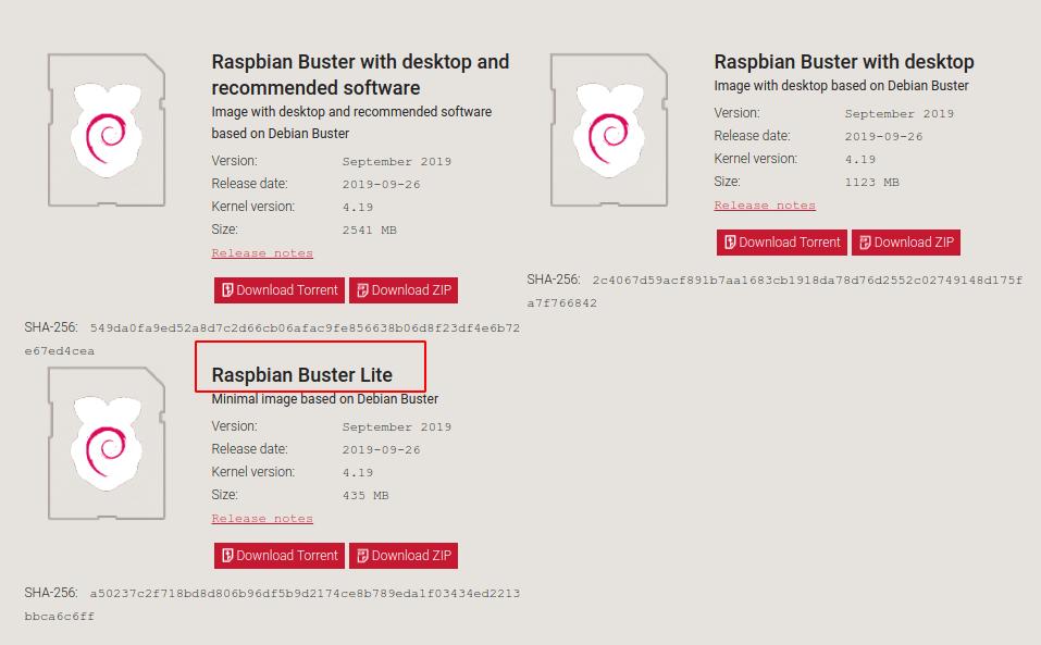 Raspbian Buster Lite Download