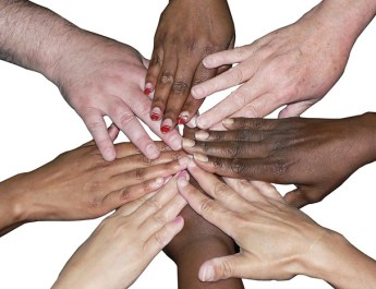 Diverse Team Stacked Hands