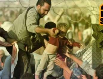 profughi filo spinato.