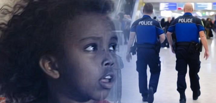bambina eritrea polizia