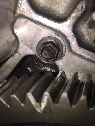 All 12 valve Cummins have a dowel pin in behind the front cover (to locate it when installing from the factory) these vibrate out and destroy the front gears and more. Get this fixed ASAP. (This is the fix, a cover that keeps the dowel in).