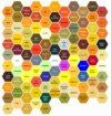 Charte des couleurs des pollens