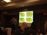 My favorite presenter, Richard M. Cruse of Iowa State, talking about water, energy, and soil.