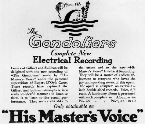 The 1927 Gondoliers