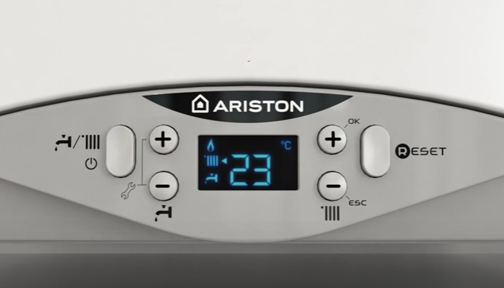 Detalle Caldera a gas Ariston CARES PREMIUM