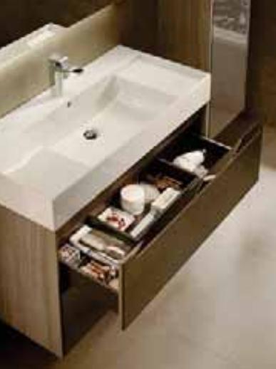 Mueble base Roca Inspira para lavabo sobre encimera 1000 mm