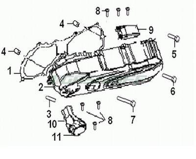 Generic Ersatzteile 50cc ROC 50 2008 Seitendeckel