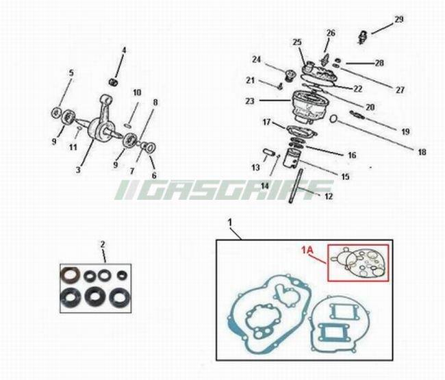 Rieju Ersatzteile 50cc Mopeds MRT SM Pro 50 Motor AM6
