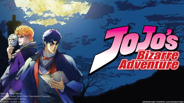 Imagem promocional do anime de JoJo's Bizarre Adventure