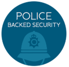Bi-Fold Door police backed security label