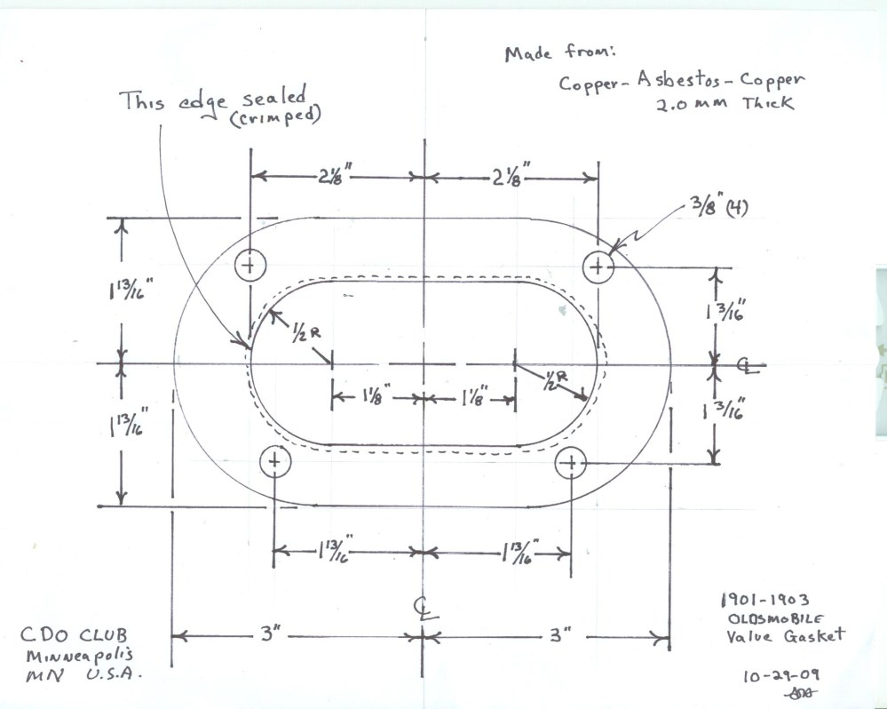 medium resolution of  of the valve cover gasket and a scan with dimensions for the head gasket in order to order enough of these gaskets to keep these machines running