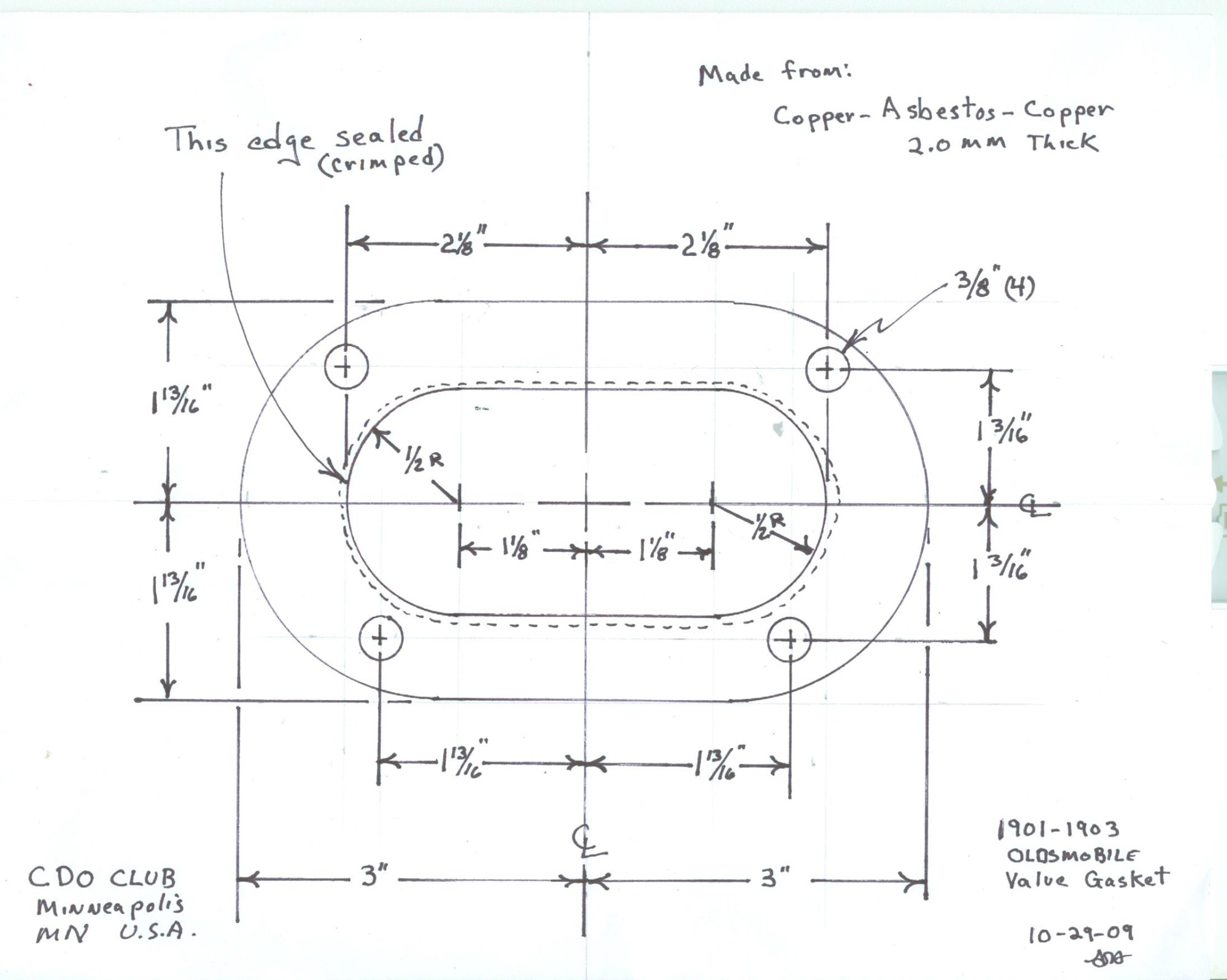 hight resolution of  of the valve cover gasket and a scan with dimensions for the head gasket in order to order enough of these gaskets to keep these machines running
