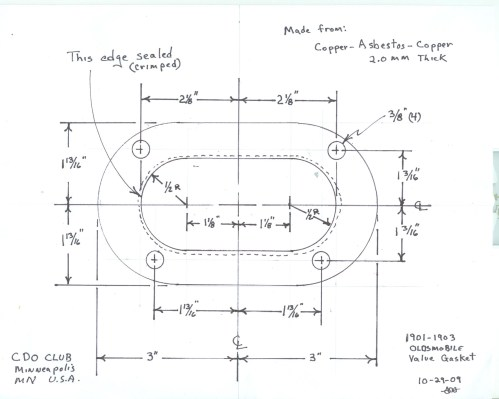 small resolution of  of the valve cover gasket and a scan with dimensions for the head gasket in order to order enough of these gaskets to keep these machines running