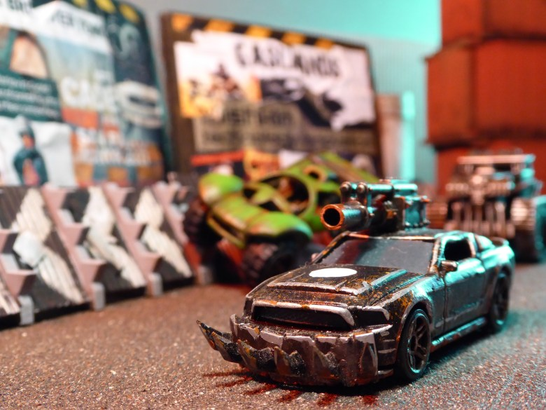 Post-apocalyptic toy cars in a death race